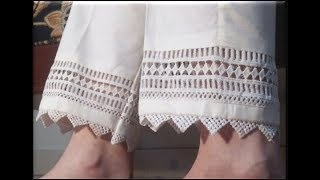 LATEST WHITE TROUSERS/ PANT DESIGNS FOR SUMMER SEASON 2019|| VERY STYLISH PONCHA DESIGNS FOR SALWAR