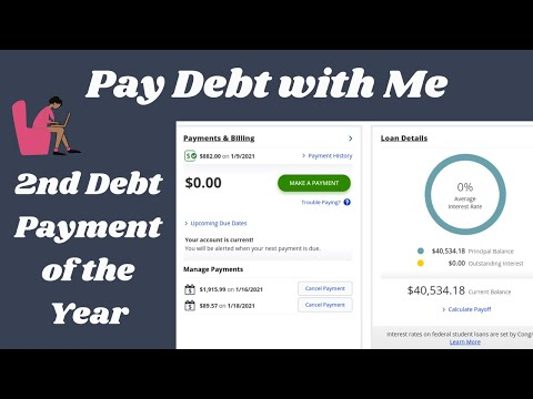 Pay Debt with Me| January 2021-2nd Debt Payment of 2021| Debt: $40,534.18