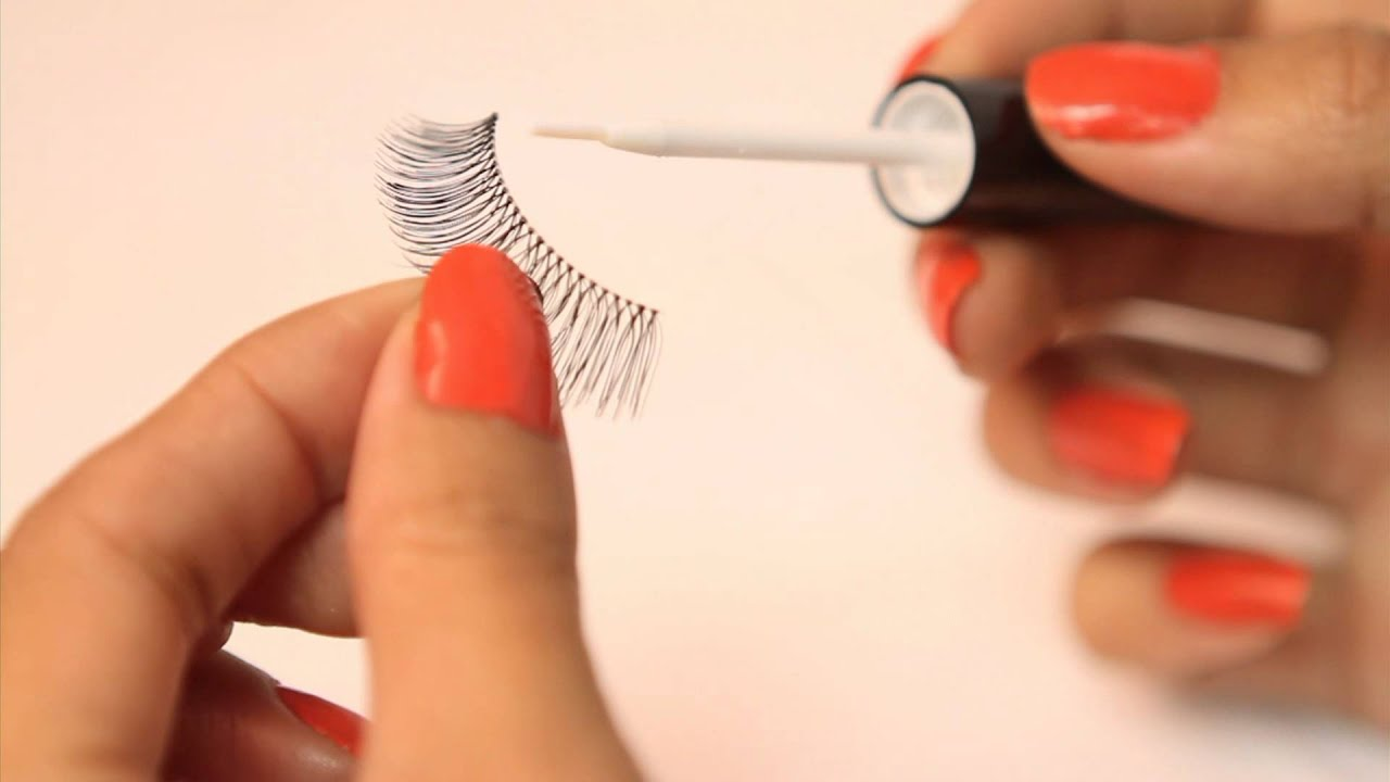 bc8dbfff4e0 DUO Adhesive Brush On - Applying Strip Lashes - YouTube