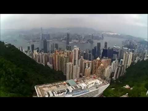 Hubsan H501S Drone Flying test over the Peak of Hong Kong skyline