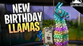 FORTNITE - New Birthday Llamas! (How To Get Old Event Heroes And Weapons)