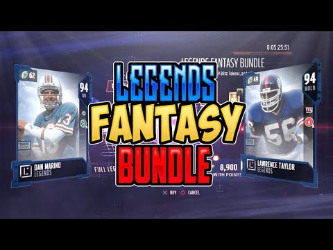 NEW DAN MARINO AND LAWRENCE TAYLOR!!! LEGENDS FANTASY BUNDLE PACK OPENING!!! Madden 18 Pack Opening