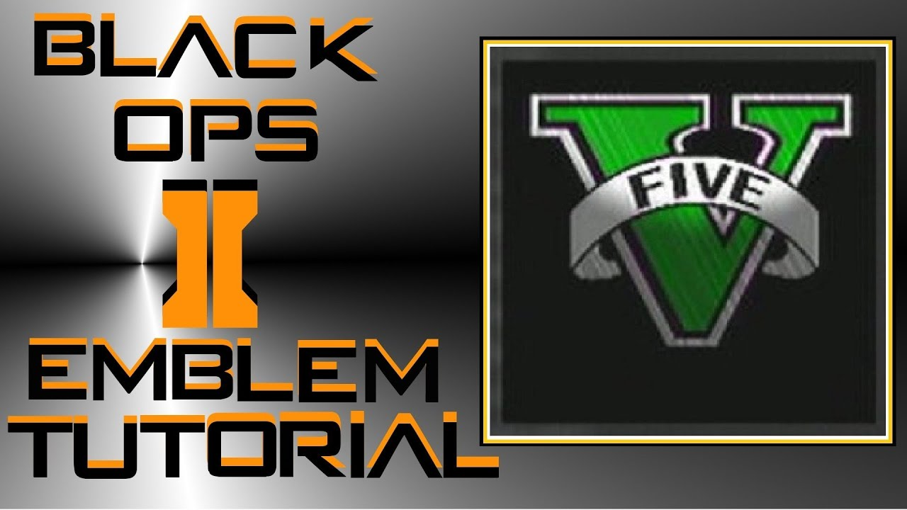 call of duty black ops 2 gta5 emblem tutorial youtube