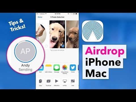 How to use Airdrop - Send Photos & Files between iPhone & Mac