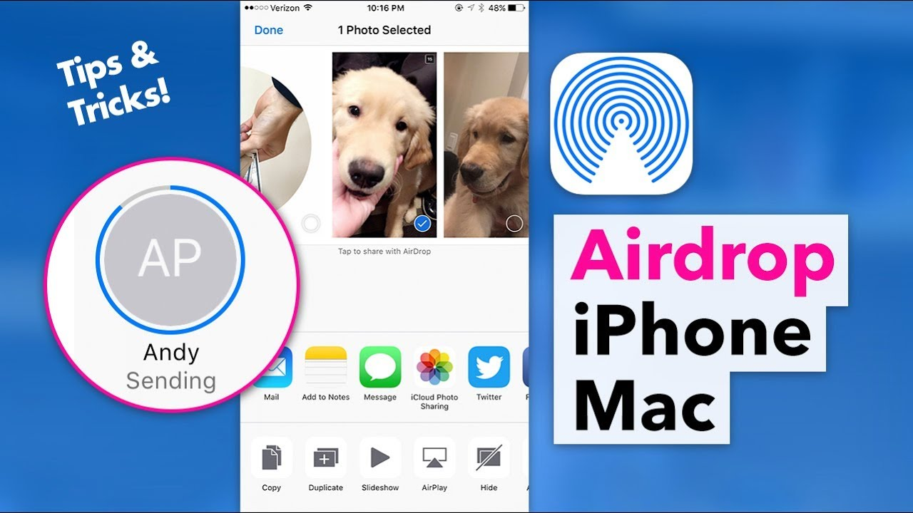 How To Use Airdrop  Send Photos & Files Between Iphone & Mac