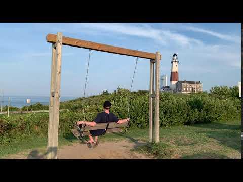 Montauk Lighthouse Point Sate Park Swings Atlantic Ocean Views Town Of East Hampton Long Island NY