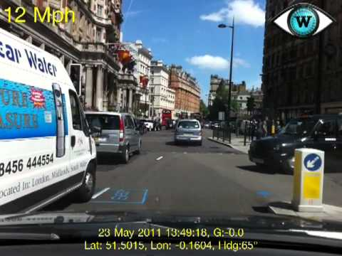 Witness driving dash cam in London