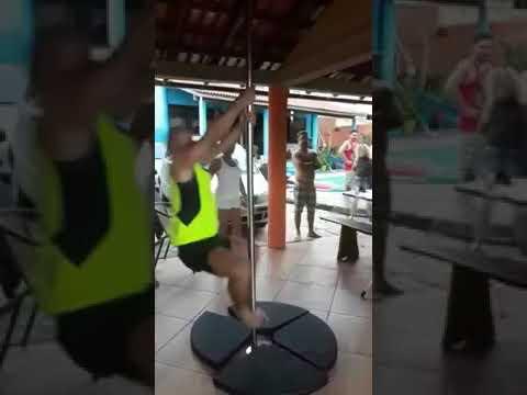 Heath West - Man Trying to Pole Dance Breaks Pole
