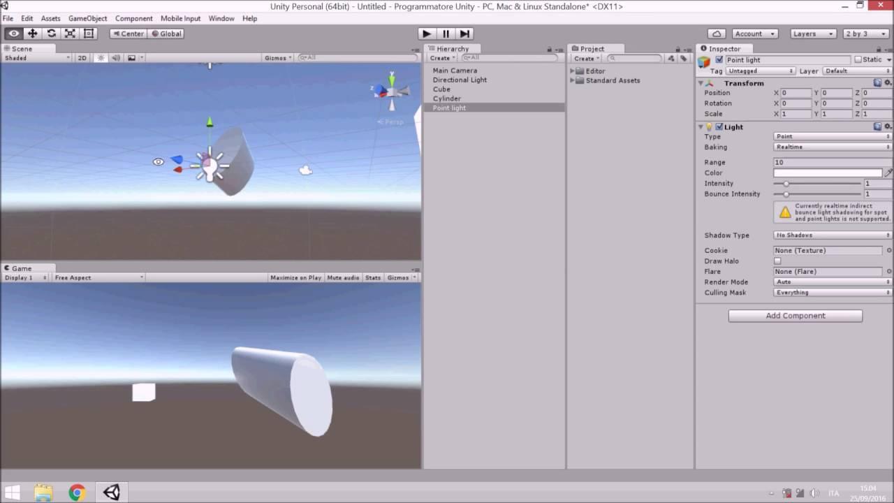 programmazione videogiochi con unity 3d video demo youtube