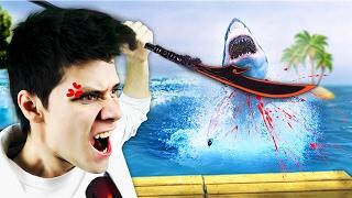 Жестокое Нападение Акулы   Raft Game 👓