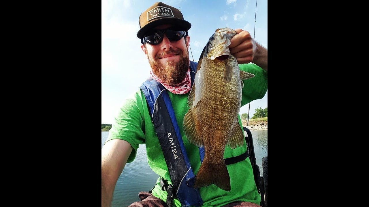 Vertical jigging smallmouth bass milford lake ks youtube for Melvern lake fishing report