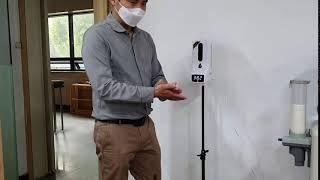 비대면 비접촉 스마트 손소독 온도측정기(고온이상신호)