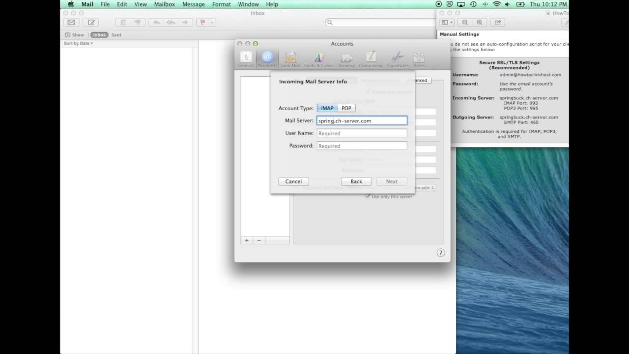 How to set up mac mailssl youtube how to set up mac mailssl 1betcityfo Image collections