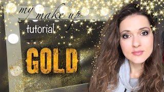 Золотой макияж универсальный для любого типажа абсолютно под любой случай Makeup tutorial