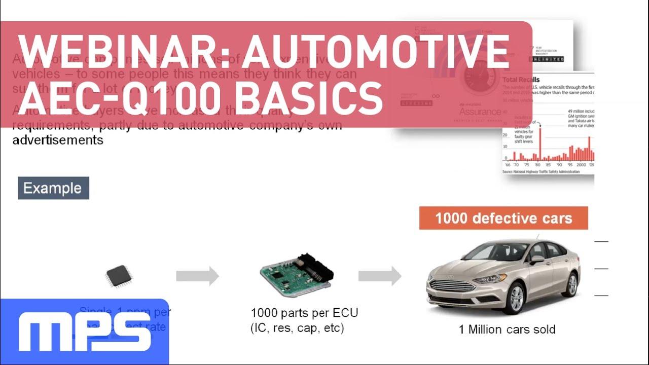 Automotive AEC-Q100 Webinar Early Version - YouTube