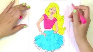 Барби раскраска для детей