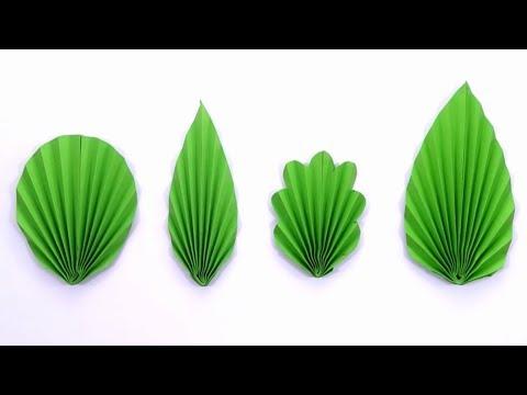 4 EASY DIY Paper Leaf Tutorial   Paper Leaf Cutting   Paper Leaf Making