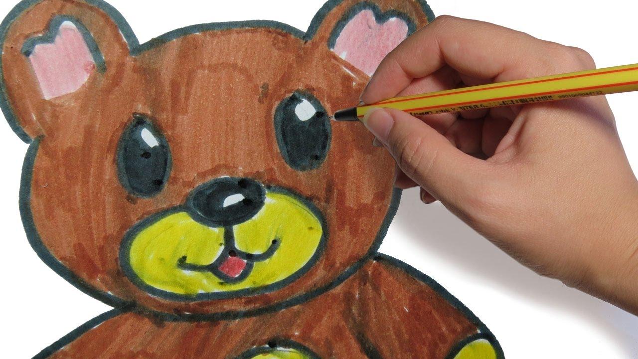 Como dibujar un oso facil paso a paso a lapiz para ni os for Silla facil de dibujar