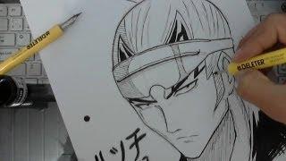 TUTORIAL how to draw Abarai Renji from Bleach