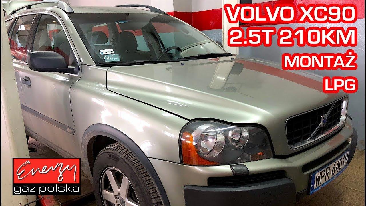 Montaż LPG Volvo XC90 z 2.5 Turbo 210 KM 2006r w Energy Gaz Polska na gaz BRC SQ P&D