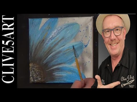 Easy Simple Flower Painting, Acrylic painting for beginners,