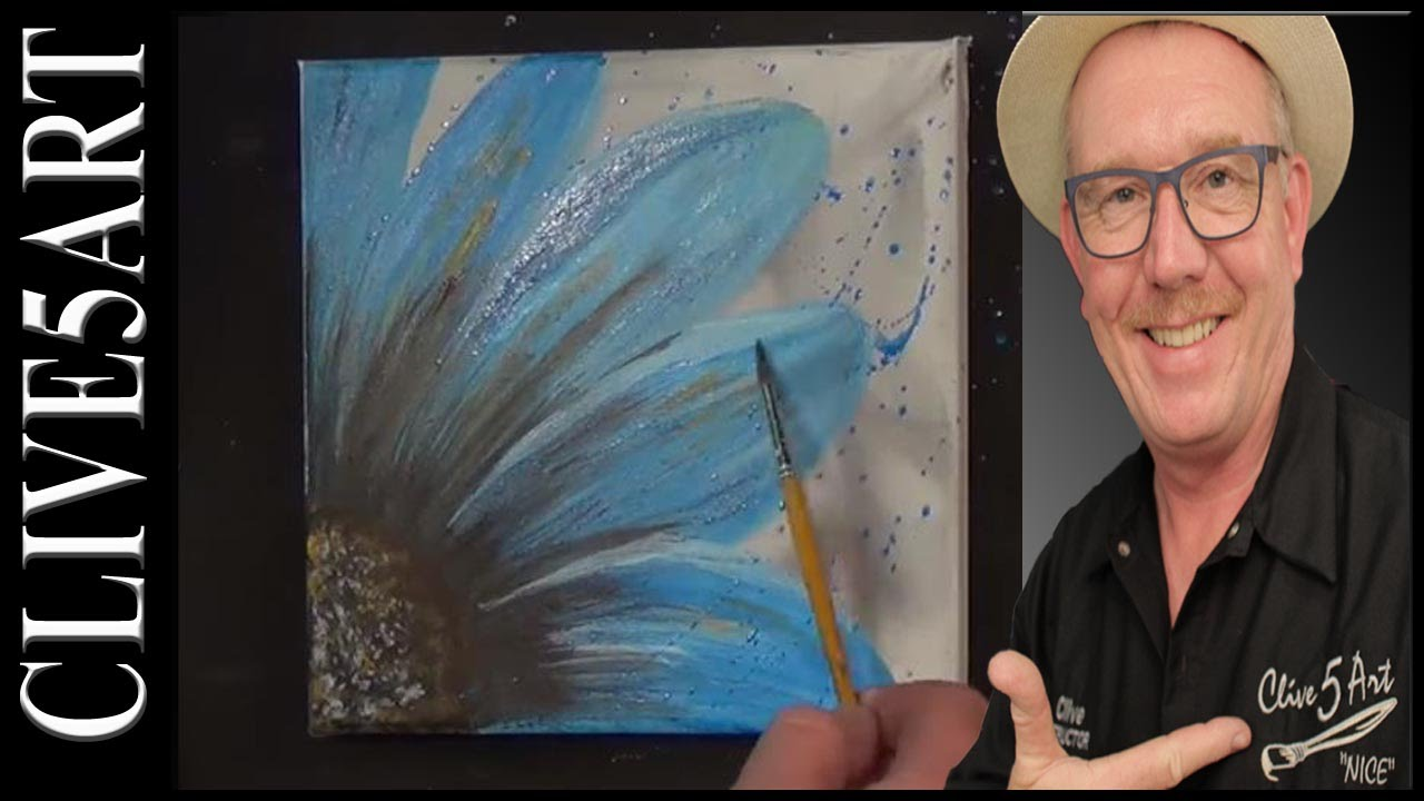 easy simple flower painting acrylic painting for beginners youtube. Black Bedroom Furniture Sets. Home Design Ideas