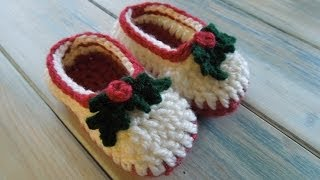 Crochet Simple Chunky Baby Booties