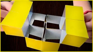 Волшебный куб трансформер Головоломка из бумаги КУБИК-конструктор Оригами своими руками Paper Puzzle