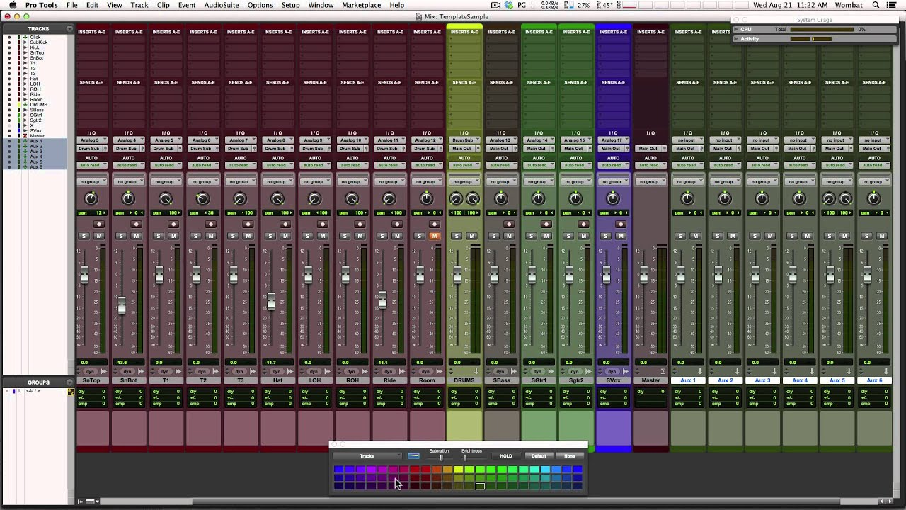 Tracking Template creation and use in Pro Tools - YouTube
