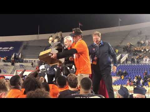 Mike Gundy Postgame on Field -- Liberty Bowl 2018