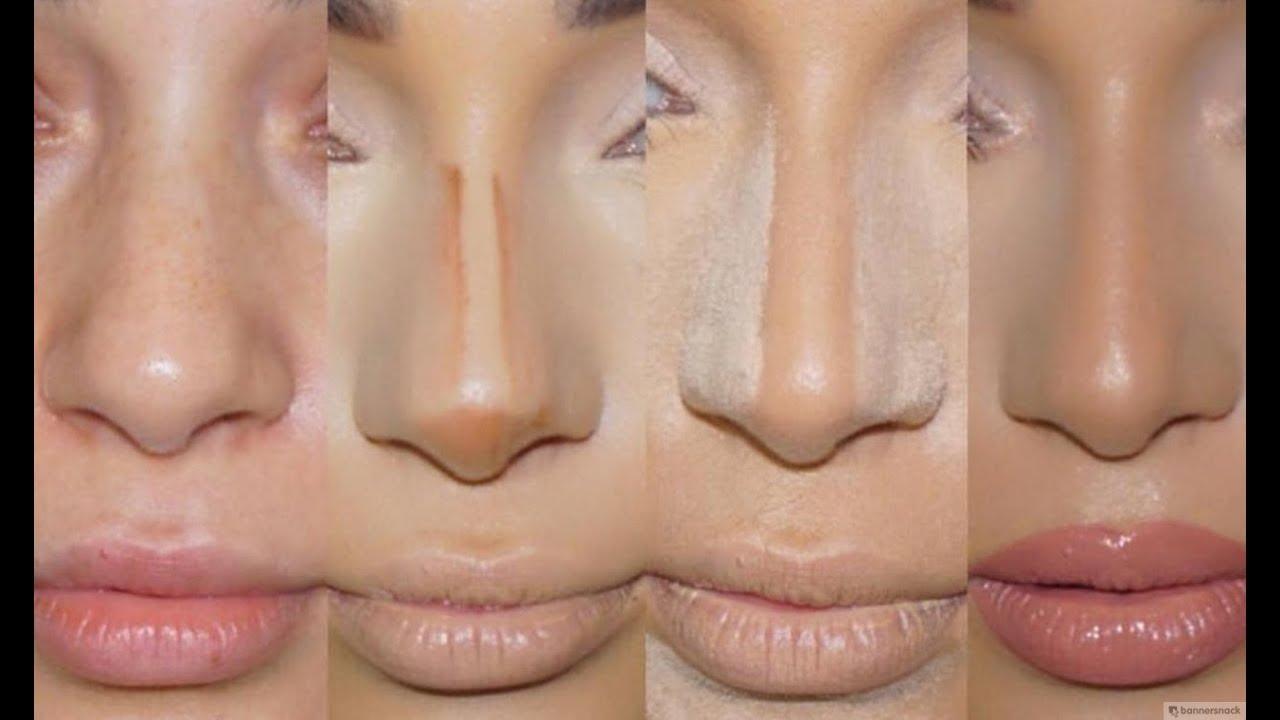 Как сделать нос меньше на фотографии