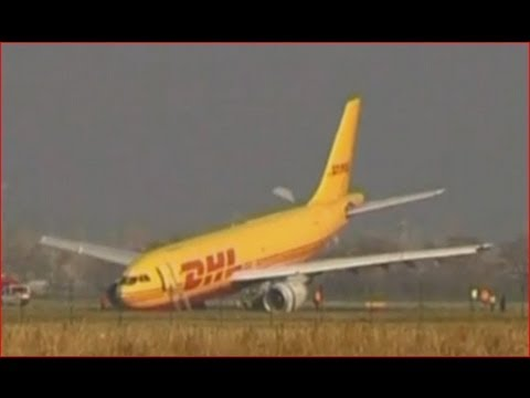 DHL Plane crash lands on its nose in Slovakia