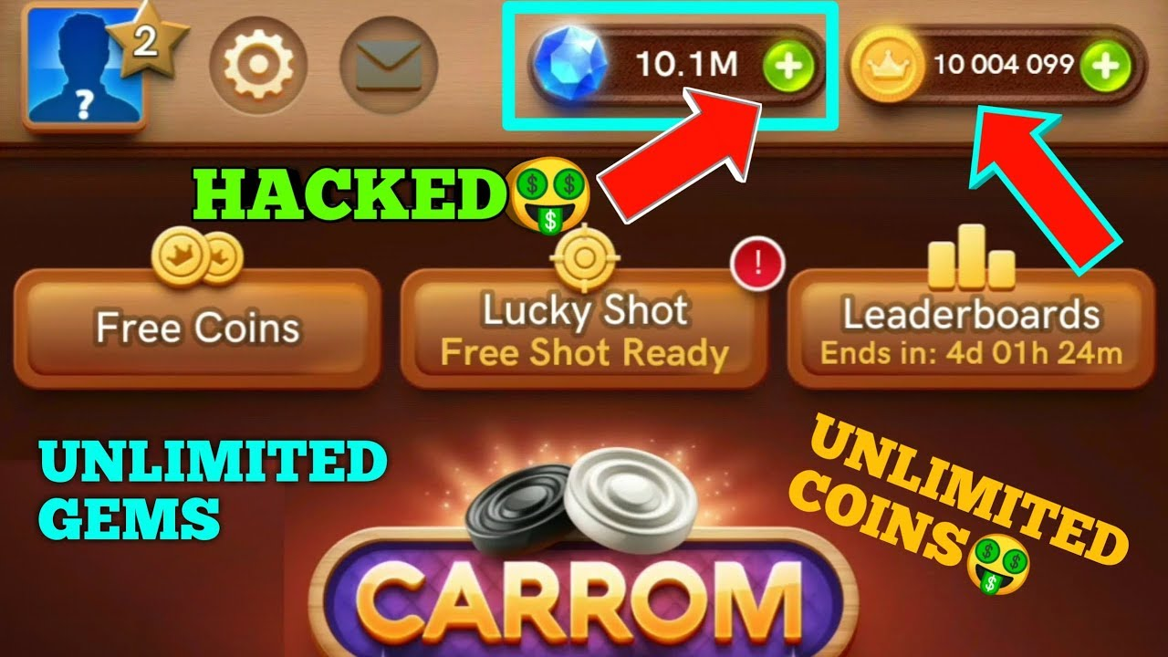 Carrom Pool Unlimited Trick Unlimited Coins And Gems Youtube