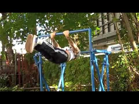 Building a Backyard Pull-up Bar - YouTube