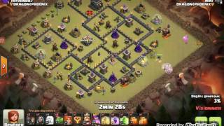Clash of clans // PERFECT au BABY DRAGON | 3 étoiles sur hdv9 anti 3 MAX !
