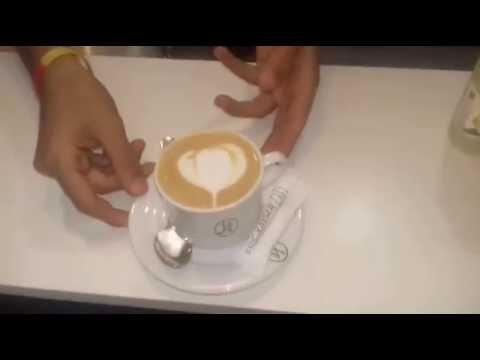 Barista  .. Shehine .... Coffee Art latte