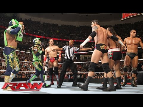 Thumbnail: The Lucha Dragons & Neville vs. The League of Nations: Raw, February 15, 2016