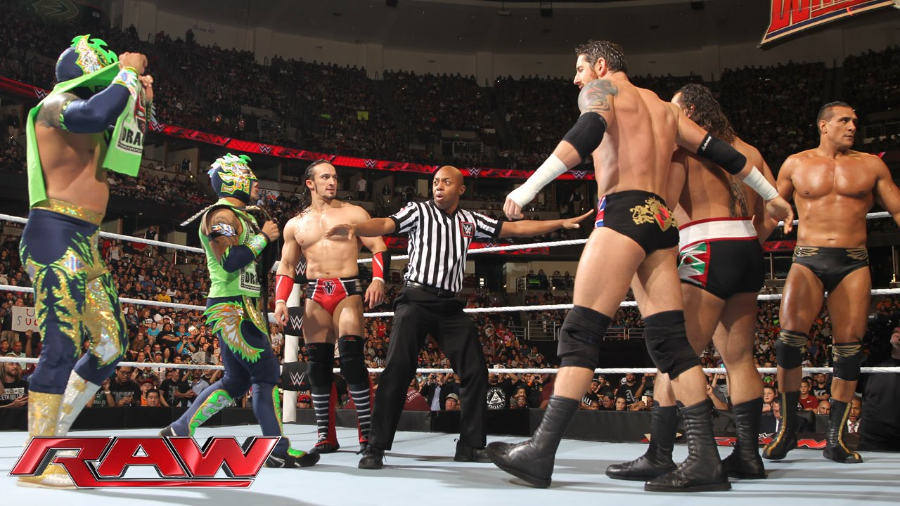 Download The Lucha Dragons & Neville vs. The League of Nations: Raw, February 15, 2016