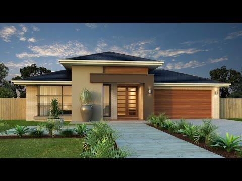 planos de casas modernas en una sola planta