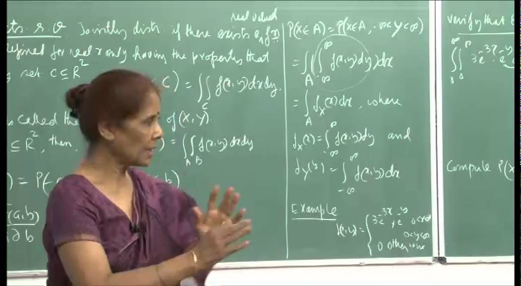 Mod-01 Lec-12 Jointly distributed random variables, Independent r. v. and their sums