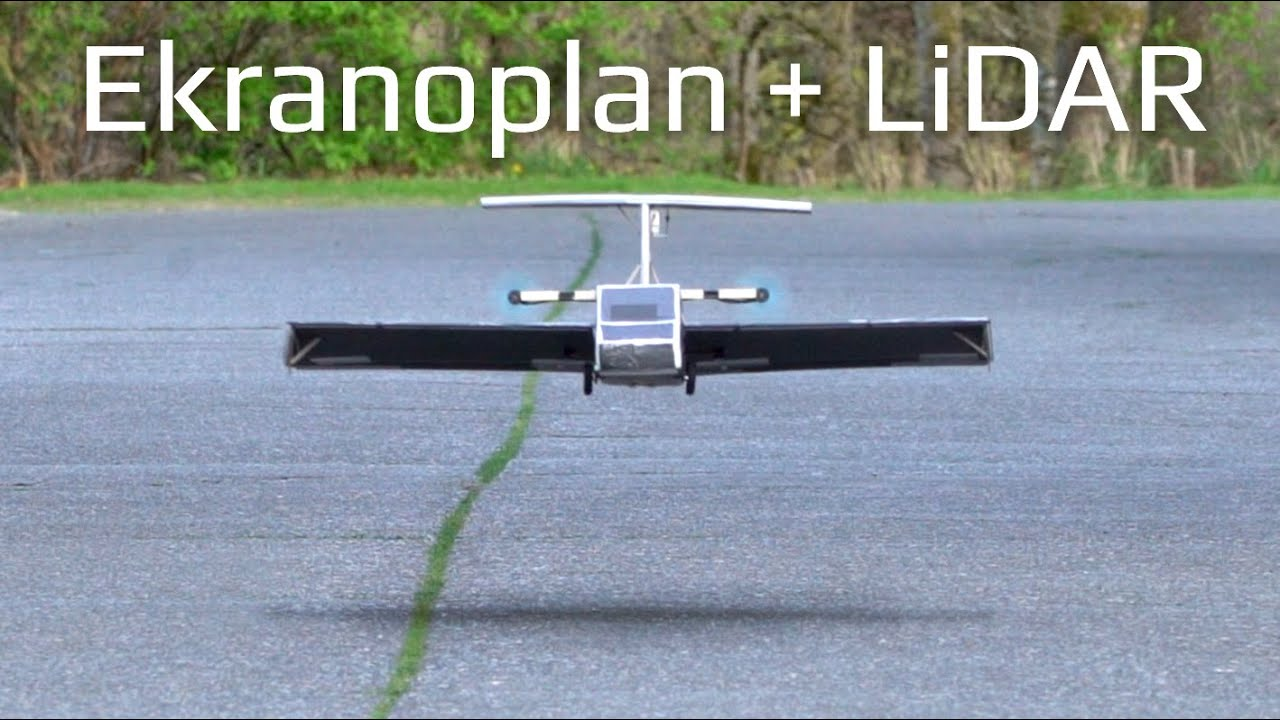 R/C Ground Effect Vehicle with LiDAR Altitude Control