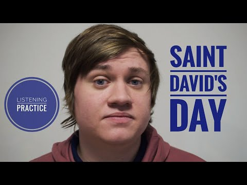 The Story of Saint David - English Listening Lesson - BRITISH CULTURE
