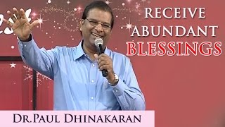 Receive Abundant Blessings (Tamil) - Dr. Paul Dhinakaran