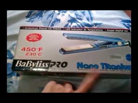 0ff2c2494 Prancha/ Chapinha Babyliss Nano Titanium Pro - Como saber se é original ? -  YouTube