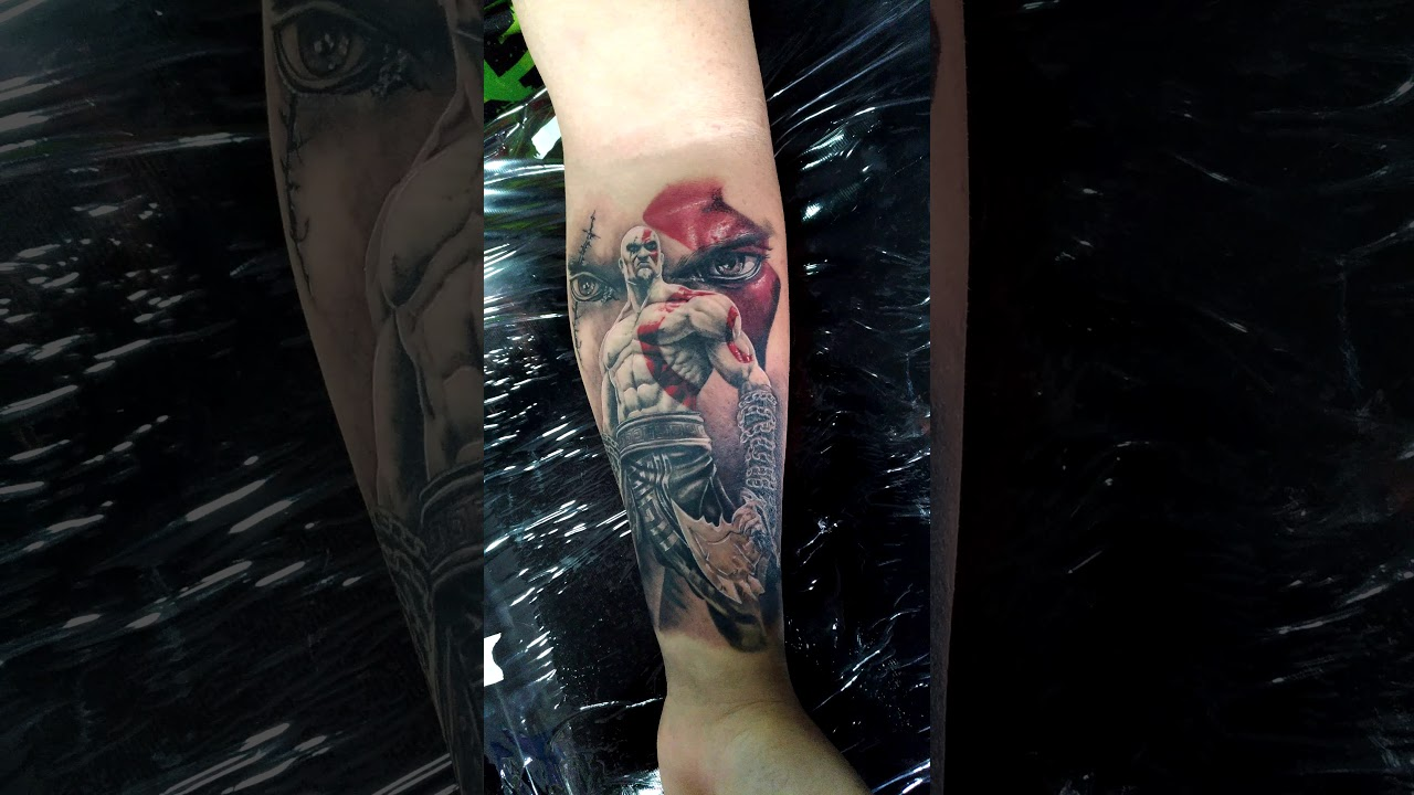 Kratos God Of War Tattoo Feito Por Edson Multarts Youtube