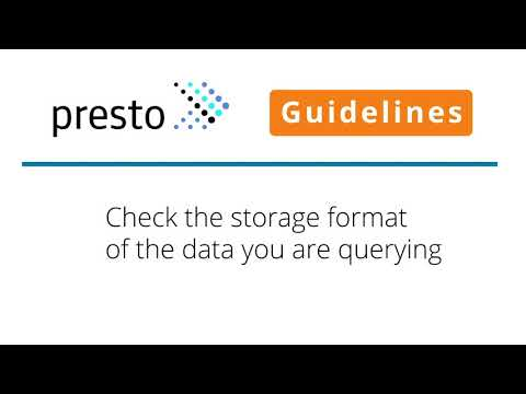 Presto User Guidelines