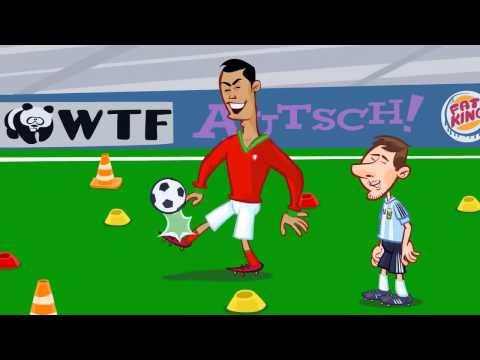 Мульт  Месси vs Роналдо свободный удар!