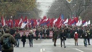 Huge rally against EU integration in Moldova