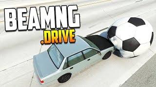 ВЗОРВАЛ МЯЧ! Предметы против машин! | BeamNG.drive
