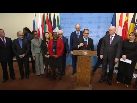 Venezuela & other UN Member States on International Law - Media Stakeout